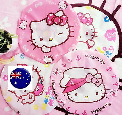 Girl Women Children Kid Pink Hello Kitty Shower Bath Hair cover waterproof cap