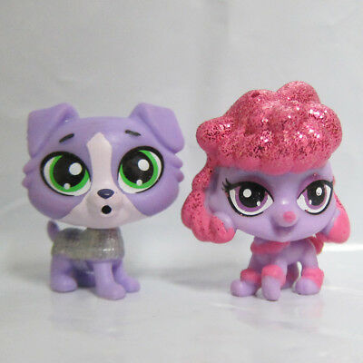 Littlest Pet Shop Figure LPS Baby Mini Toy Armor Collie Dog Sparkle Poodle Puppy