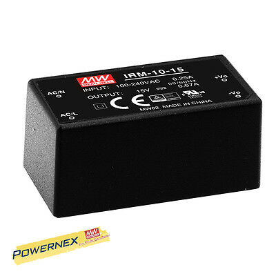 MEAN WELL [PowerNex] NEW IRM-10-12 12V 0.85A 10.2W Single Output Power Supply
