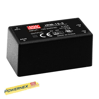 [POWERNEX] MEAN WELL NEW IRM-15-24 24V 0.63A 15.12W Single Output Power Supply