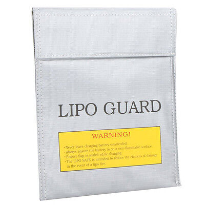 RC LiPo Battery Safety Bag Safe Guard Charge Sack 22 * 18 cm Silver SH