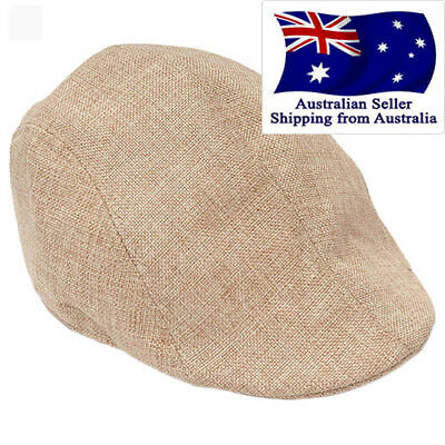 Unisex Adult Peaked Cap Flat Hat Country Newsboy Cabbie Golf Chef Hats Tan