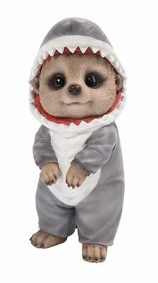 Brand New Shark Onsie Meerkat Garden Ornament
