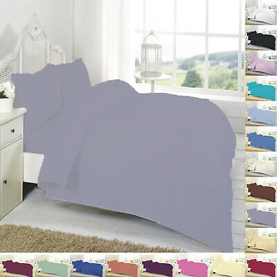 Duvet/Quilt Cover Set With Pillowcase Single Double Super King Size Bedding Bed