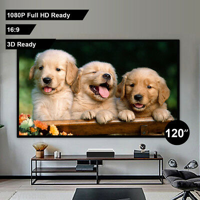"Portable 120"" Inch 4:3 Fabric Matte Projector Projection Screen Cinema Theater"