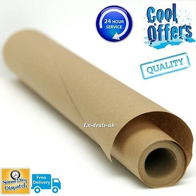 10m 10 750mm 750 STRONG BROWN KRAFT WRAPPING PAPER 90gsm roll rolls heavy duty