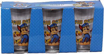 Paw Patrol Boys Pups Childrens Three Pack Drinking Glass Set By BestTrend