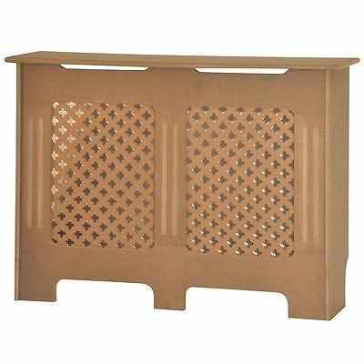 OXFORD RADIATOR COVER Medium Unfinished MDF Traditional Grill Guard Cover Shelf