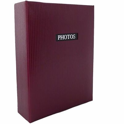 Elegance Red 6x4 Slip In Photo Album - 300 Photos Overall Size 13x9""