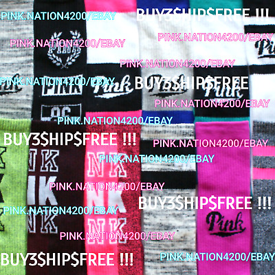 Victoria's Secret Pink Campus Knee High Socks +1Hair Tie Ltd. Time - Hugh Sale!!