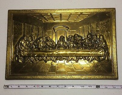Last Supper Hammered Tin Picture 3D Wall Hanging