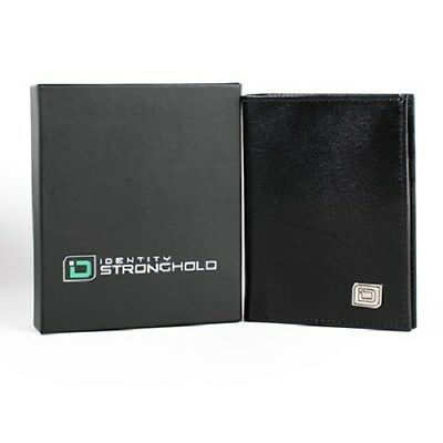 Identity Stronghold RFID Wallet - Vertical Two Tone Black/Burgundy 9 Slot