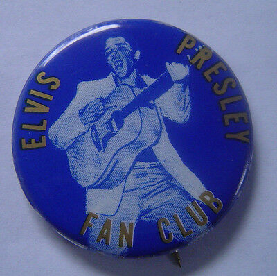 Elvis  Presley Vintage Fan Club Button Pinback