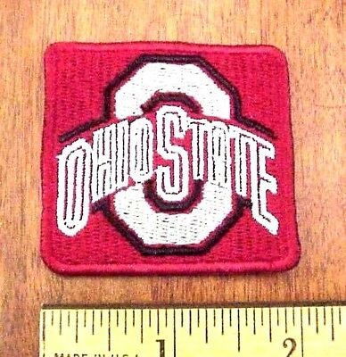 """NCAA Ohio State Buckeyes Logo 2"""" x 1 7/8"""" Embroidered Shirt / Cap Iron-On patch"""