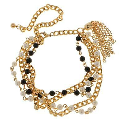 Women Boot Gold Chain Bracelet Cowgirl Rock Shoe Bling Anklet Charm Jewelry