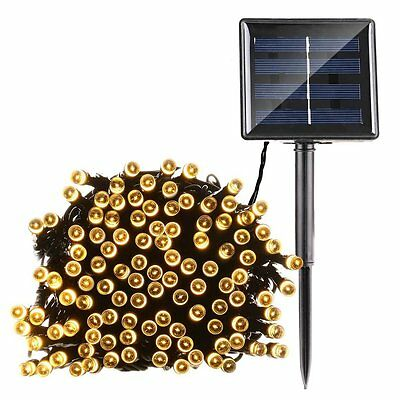 Qedertek Fairy Decorative Christmas Solar String Lights 72ft 200 LED Lights