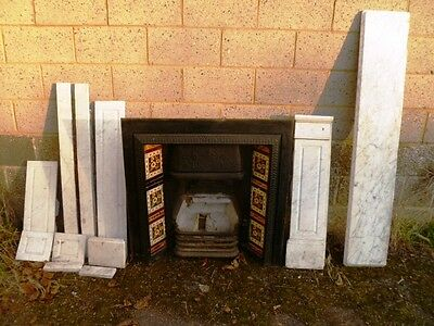 Original  Victorian Marble Fireplace Surround  and insert