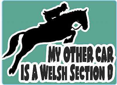 "Horsebox Decal ""My Other Car is a Welsh Section ""D Window Bumper Car Sticker"