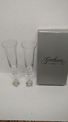 Gorham 1831 toasting flutes from the Amore Collection JD004