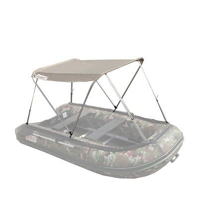 ALEKO Canopy Boat Tent Sun Shelter Sunshade for Inflatable Boats Wheat Color