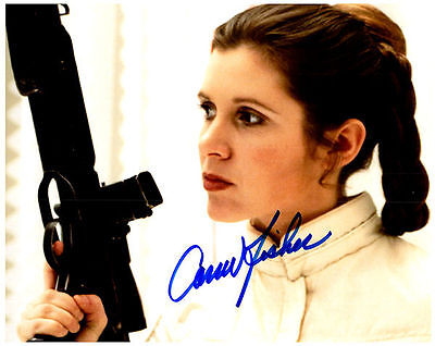 CARRIE FISHER Authentic Signed Autographed 8X10 Photo w/ COA - Photo 2