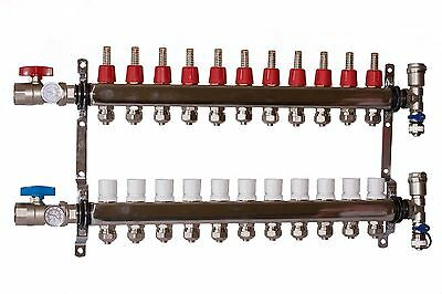 11 - Loop/Port Stainless Steel PEX Manifold Radiant Heating