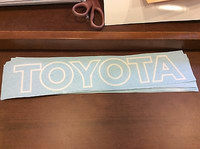 Toyota Forklift Decals Set of 2 Vinyl decal for the mast area White