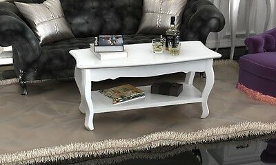 White French Coffee Table Furniture Shabby Chic Style Living Room Solid Pine