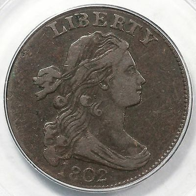 1802 S-229 R-2 PCGS VF 20 Draped Bust Large Cent Coin 1c