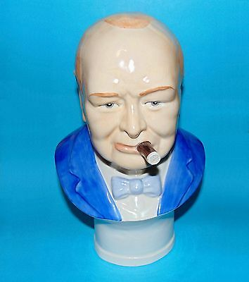 Peggy Davies 'Winston Churchill'  bust ornament  Limited edition 1st Quality