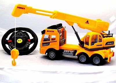 Big-Daddy Remote control Construction Truck With Friction Crane on Flat Bad