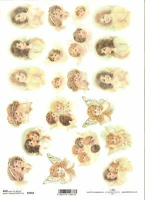 Rice Paper for Decoupage Scrapbooking Christmas Holly Bells Angels A4 ITD R451