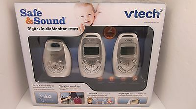 VTech Safe&Sound Digital Audio Baby Monitor with 2 Parent Units - DM223-2