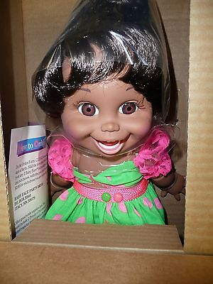 1990 BABY FACE Doll By Galoob - SO FUNNY NATALIE - AFRICAN AMERICAN - MIB - 3209