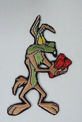"WILE E. COYOTE #2 Embroidered Iron-On Patch - 4"" - Looney Tunes.- Acme Corp."