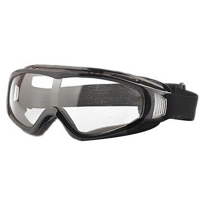 Airsoft Goggles Tactical Paintball Clear Glasses Wind Dust Motorcycle, Black T1