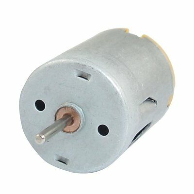 8000RPM 9V 68mA High Torque Magnetic Cylindrical Mini DC Motor Silver T1