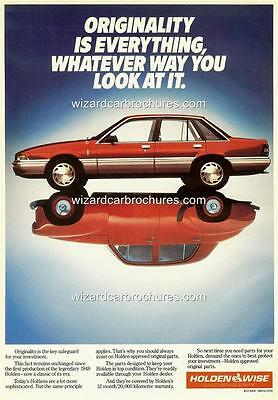 1988 Vl Holden Commodore A3 Poster Ad Sales Brochure Advertisement Advert