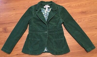 OLD NAVY MATERNITY Stretch Green Microwale Corduroy Jacket~Women's Size Small