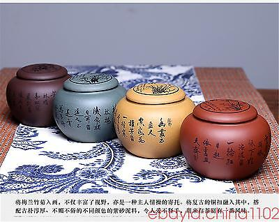 4 PCS China YiXing Zisha jar tea caddies set Tea Storage Canister Jar Container