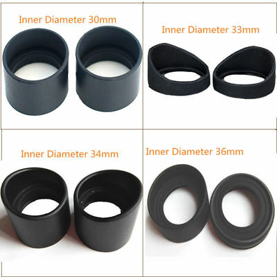 2PCS Rubber Eyepiece Eye Cups for Stereo Microscope or Telescope