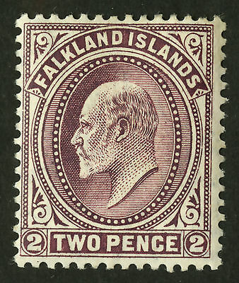 Falkland Islands  1904-07  Scott # 24  Mint Very Lightly Hinged