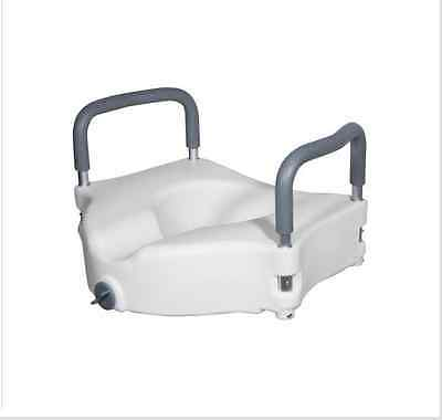Elevated Raised Portable Toilet Bowl Seat Removable Padded Arms Bathroom Safety