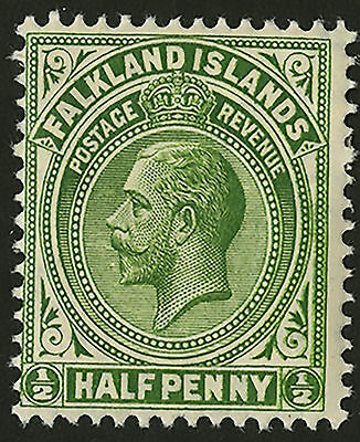 Falkland Islands  1912-14  Scott # 30  Mint Hinged