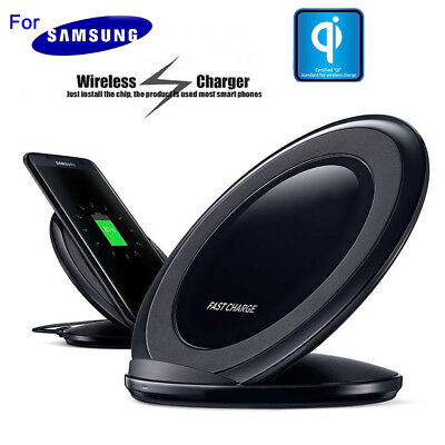 For Samsung Galaxy S6 S7 Edge Wireless Charger Qi Fast Charging Pad Stand Plate