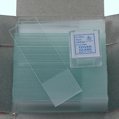 microscope slides frosted x50 & cover glass slips 20x20 new x200 free shipping