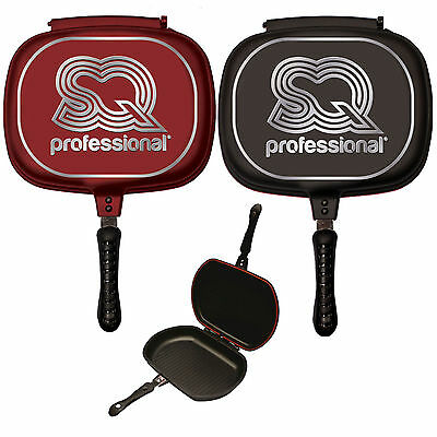 Double Sided Die-Cast  Grill Frying Pan Magic Foldable Flipping Griddle Side 32c