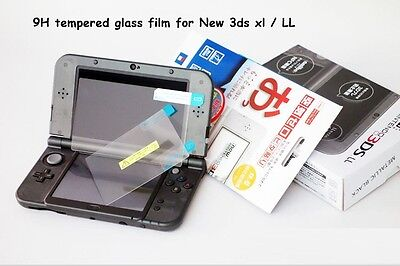 Tempered Glass Film upper + down Screen Protector SET For Nintendo New 3DS XL LL