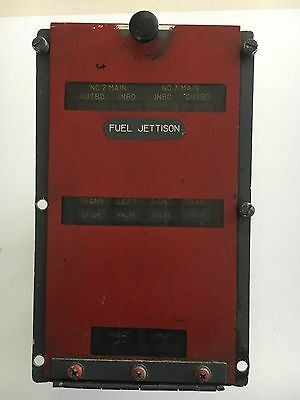 Aircraft Boeing B-747 727 ? Panel Annunciator *As Removed* Fuel Jettison