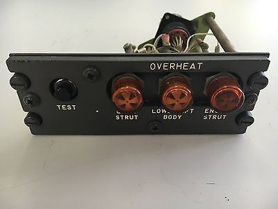 Aircraft Boeing B-727 Panel Annunciator *As Removed* Overheat